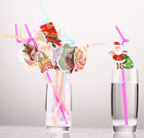 Happy Holiday Creative Cup Straws Party Drinking Straws