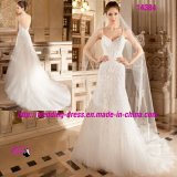Impeccable Global Glamour V-Neckline Bridal Wedding Dress with Spaghetti Strap