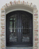 Round Top Iron Front Glass Doors
