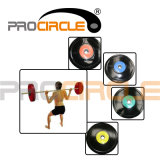 2015 New Double Colored Barbell Weight Plate (Rubber Cover) (PC-BP-1061)