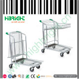Warehouse Hardware Platform Trolley with Basket