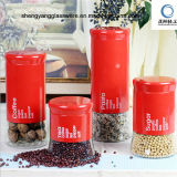 Good Shape 4PCS Surface Stainless Steel Glass Storage Jar with Lid