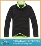 Black Polo Shirt with Contrast Collar