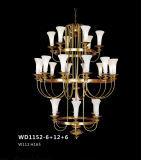 European Style Decorative Brass Candle Chandelier (WD1152-6+12+6)