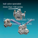 Stainless Steel 3 Way 1000 Wog Dn50 Ball Valve