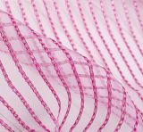 Newest Design Polyester Stripe Organza Voiles Fabric for Curtains Upholstery