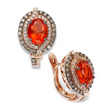 Fashion Hoop Earrings 925 Silver Jewelry with Color CZ