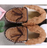 Hand Made Casual Shoes for Men with Kangaroo Skin Fur