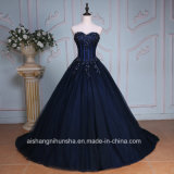 Luxury Applique Beading Sweetheart Neck Long Evening Prom Dress