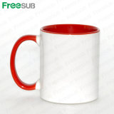 Freesub 11oz Inner and Handle Color Ceramic Sublimation Mugs (SKB)