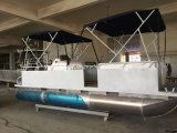 20FT Aluminum Catamaran Pontoon Boat with Motor