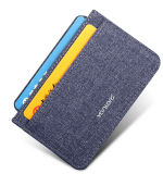 2016 Fashion Snow Fabric Mens Business Card Holder (BSWT16014)