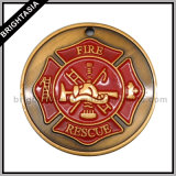 Quality Commemorative Medal for Fire Rescue (BYH-10527)