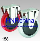 Red PVC Wheel Rigid Plate Top Caster