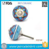 Decorative Charming Blue and Red Ceramic Drawer Knobs