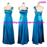 Romantic Full Length Bridesmaid Dresses with One Shoulder