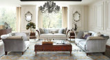 European Top Sofa with Solid Wood Frame / Classic Royal Sofa