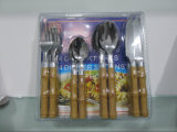 Stainless Steel Dinner Cutlery Sets with Bamboo Handle No. CT16-B03