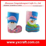 Christmas Decoration (ZY15Y171-1-2) Santa and Snowman Xmas Boot Christmas Stocking Holders