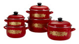 Turkish 5 PCS Enamel Casserole Set