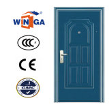 Classic Blue Color Painting Security Steel Entry Door (W-S-130)