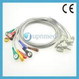 Philips M1713b Medical EKG Lead Wires Set Snap