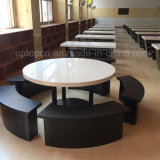 Solid Surface Corian Stone Top Restaurant Dining Table (SP-CS393)