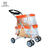 New Pet Products Doule Layer Dog Cat Stroller Carrier