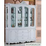 Modern Wood Glass Wine Display Storage Cabinet