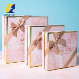 Eco-Friendly Printing Lid and Base Box Customized Wedding Birthday Storage Cosmetic Clothing Shoes Perfume Gift Packaging Box with Silk Bow