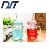 2016 Creative Gradient Color Glass Bottle Beer Mug with Handle
