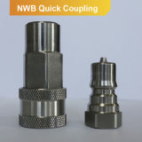 ISO 7241B hydraulic quick coupling poppet valve coupler male+female part NWB series (stainless steel)