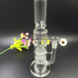 Bontek Triple Honeycomb to Turbine Perc Glass Water Smoking Pipe