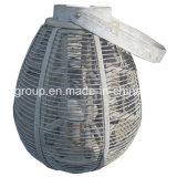 100%Handmade Customized Rustic Wicker Lantern Candle Holder with Handle