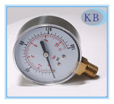 Normal Dry Pressure Gauge Black Steel Plastic Case 2""