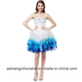 Sweetheart Organza Homecoming Dresses Beaded Rhinestones Prom Dress
