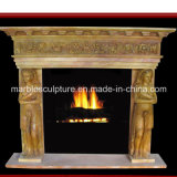 Stone Sculpture Marble Fireplace Surro (SY-MF027)