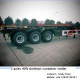 40ft Tri Axles Skeleton Frame Trailer Exported to India