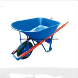 Manufacturing Big Capacity Wooden Handle Wheelbarrow for USA Market