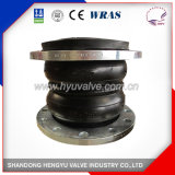 Double Sphere Rubber Expansion Joint with Galvanized Flange for Industrial Use