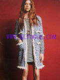 Lady's Designer Fashion Winter Wool Coat