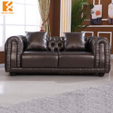 Classic Leather Sofa (NL-H388)