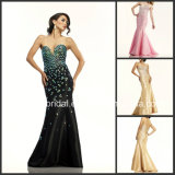 Crystal Evening Dress Cocktail Gown Mermaid Taffeta Vestidos Prom Evening Dresses Ld1152