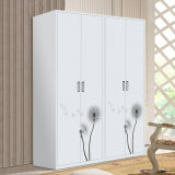 Fashion Desion Two Swing Doors Large Steel Wardrobe
