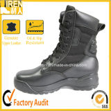 """8"""" Balck Leather Tactical Military Boots with Ripstop Nylon"""