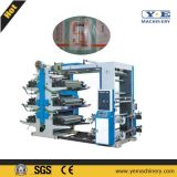 Roll Paper 6 Colors Flexo Printing Machine with Automatic Tension (YT)