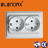 EU Style 10/16A Wall Socket Outlet Double (F7210)