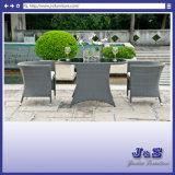 Outdoor Wicker Patio Bistro Set Chairs & Table, Garden Rattan Furniture (J425)