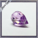 High Quality Amethyst Color Shape Pear Cubic Zirconia Gemstone