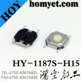 High Quality Tact Switch with 5.2*5.2mm Round Button 4 Pin SMD (HY-1187S-H15)